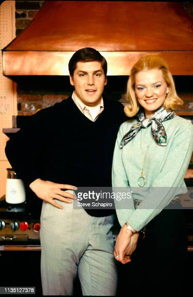Portrait of married American couple baseball player Tom Seaver pitcher for the New York Mets and Nancy Seaver as they pose together New York 1970