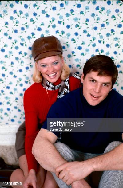 Portrait of married American couple Nancy Seaver and baseball player Tom Seaver pitcher for the New York Mets as they pose together New York 1970