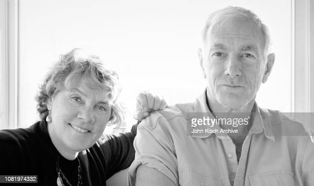 Portrait of married American couple, producer Maggie Renzi and filmmaker John Sayles, Guilford, Connecticut, 2017.