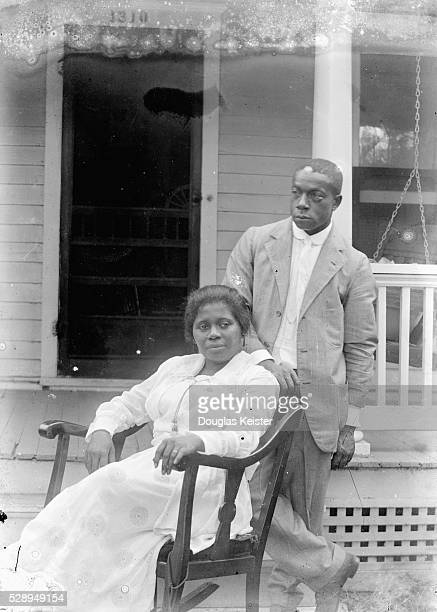 When Odessa Price married John Johnson in 1918, she was 27 and he was 39. This is probably their wedding portrait. The Johnsons were married for 34...
