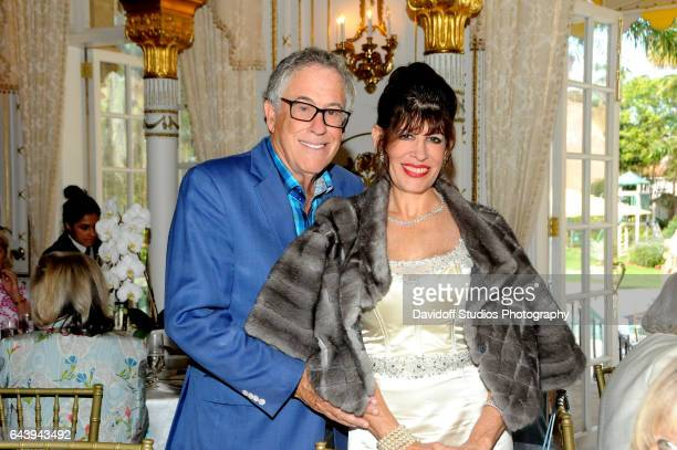 Portrait of married couple Richard and Robin Bernstein as they pose together in the dining room of the MaraLago estate Palm Beach Florida February 13...