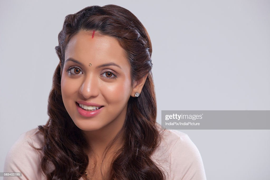 Portrait of married woman smiling : Stock Photo