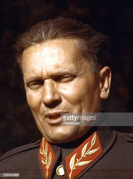 Portrait of Marshall Josip Broz Tito leader of the Partisan resistance to the German occupation of Yugoslavia mid1940s