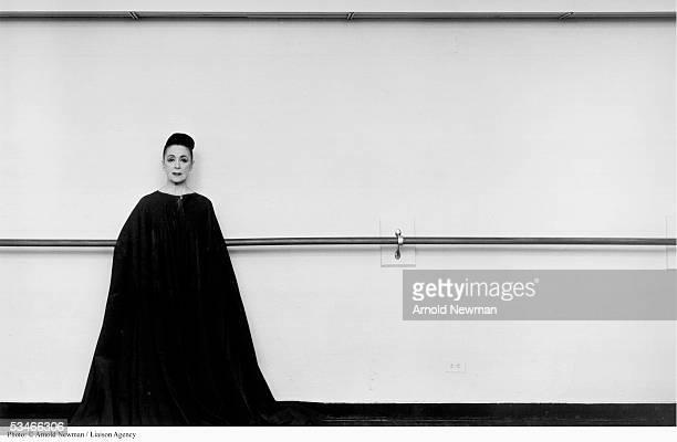 Portrait of Martha Graham American avantgarde choreographer March 2 1961 in New York City