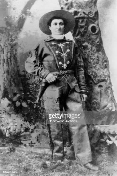 Portrait of Martha Jane Burke aka Calamity Jane circa 1875