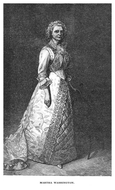 Portrait of Martha Washington, wife of George Washington, the first president of the United States