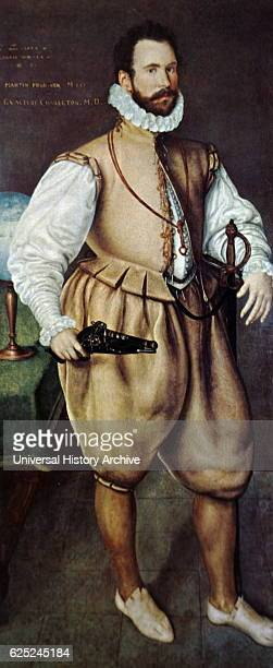 Portrait of Martin Frobisher an English seaman and privateer. Dated 16th Century.