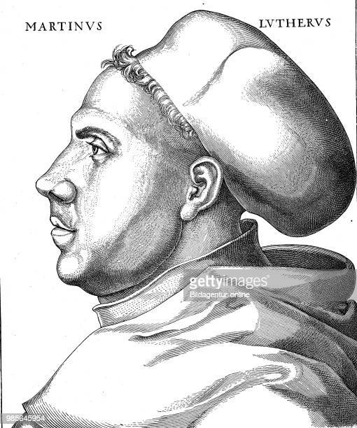 Portrait of Martin Luther at the age of 38 years in his habit 10 November 1483 18 February 1546 was a German professor of theology composer priest...