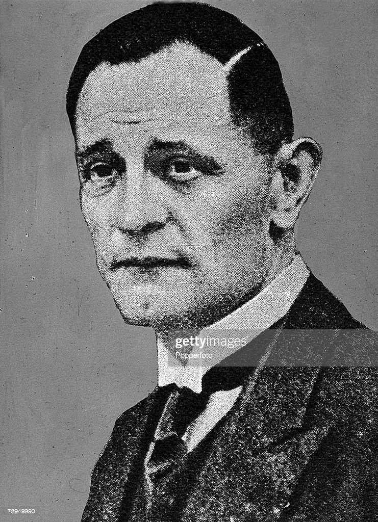 A portrait of Martin Niemoller (1892-1984), the German theologian, resistance figure and Christian Protestant Pastor. : News Photo