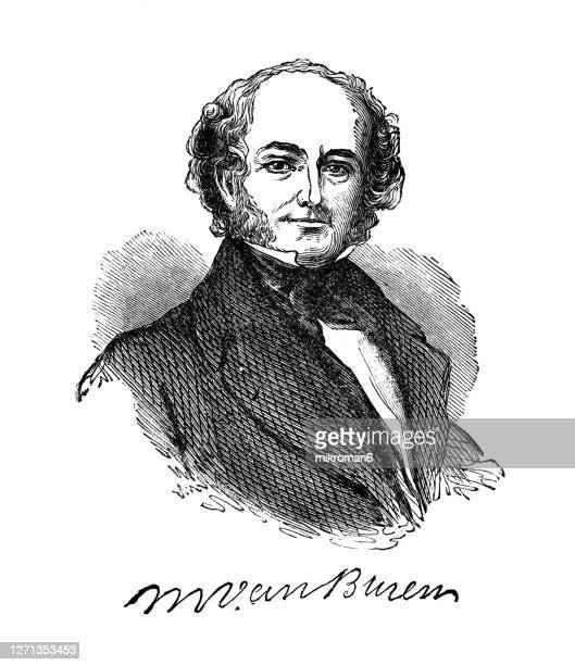 portrait of martin van buren, eighth president of the united states - american civil war stock pictures, royalty-free photos & images