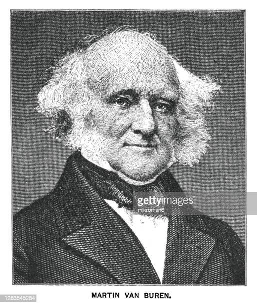 portrait of martin van buren, eighth president of the united states - us president stock pictures, royalty-free photos & images