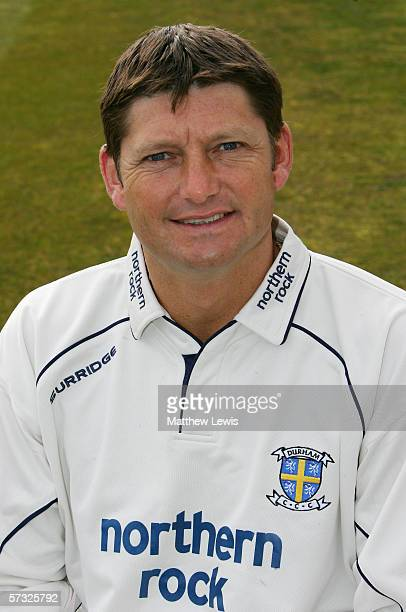 Portrait of Martyn Moxon of Durham taken during the Durham County Cricket Club photocall at the County Ground on April 6 2006 in Durham England