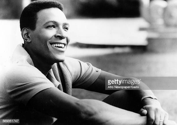 Portrait of Marvin Gaye smiling 1961