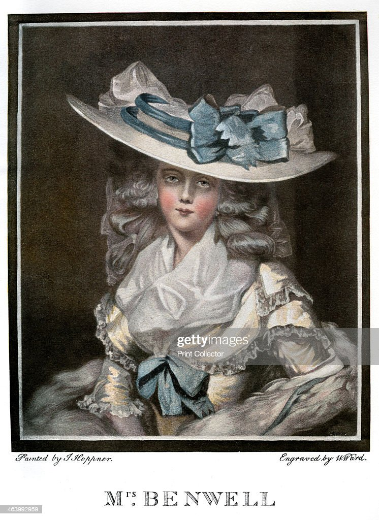 'Portrait of Mary Benwell', c1785, (1901). Artist: W Ward : News Photo