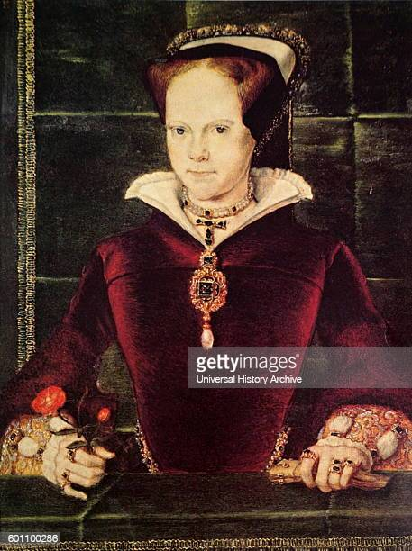 Portrait of Mary I of England Her executions of Protestants led to the posthumous sobriquet 'Bloody Mary' Dated 16th Century