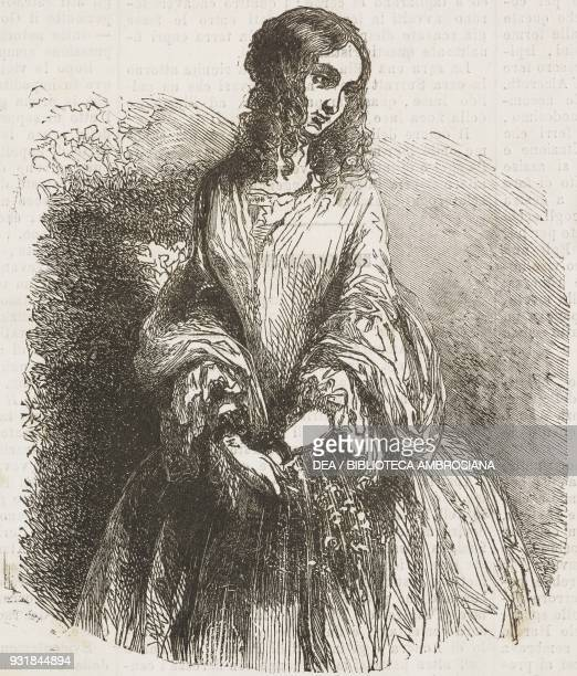 Portrait of Mary Surratt first woman executed by hanging by the United States federal government illustration from Il Giornale Illustrato Year 2 No...