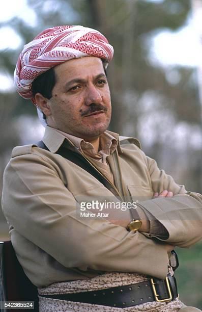 Portrait of Massoud Barzani, General Secretary of the Kurdistan Democratic Party . | Location: Salaheddine, Iraq.