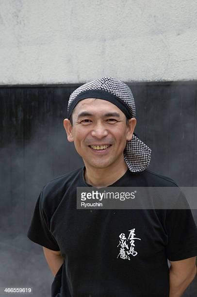 Portrait of master brewer of shochu