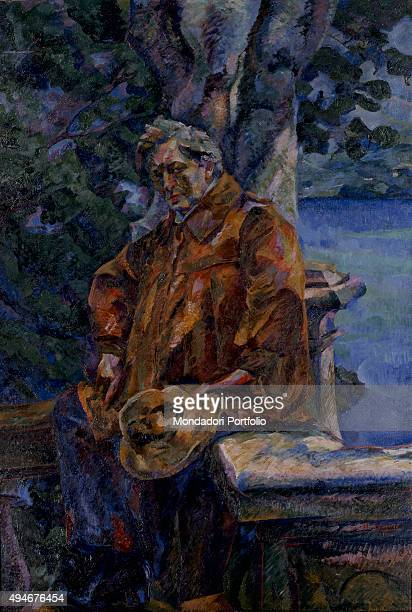 Portrait of Master Busoni by Umberto Boccioni 20th Century oil on canvas 176 x 121 cm Italy Lazio Rome National Gallery of Modern and Contemporary...