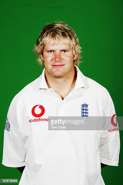 Portrait of Matthew Hoggard of England taken during a photocall at the Stapleford Park Hotel on May 20, 2005 in Melton Mowbray, Leicestershire,...