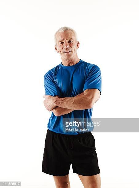 portrait of mature athletic male - sportswear stock pictures, royalty-free photos & images