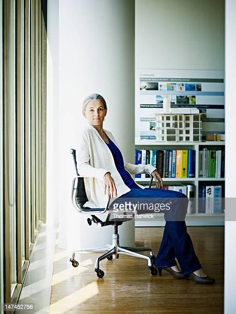 Portrait of mature businesswoman sitting in office