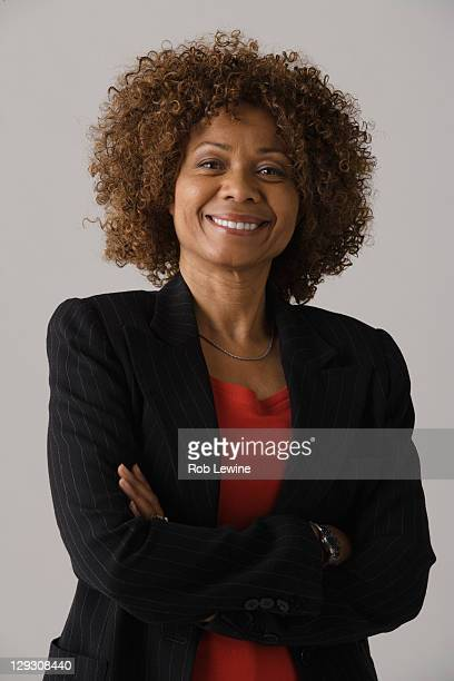 Portrait of mature businesswoman, studio shot