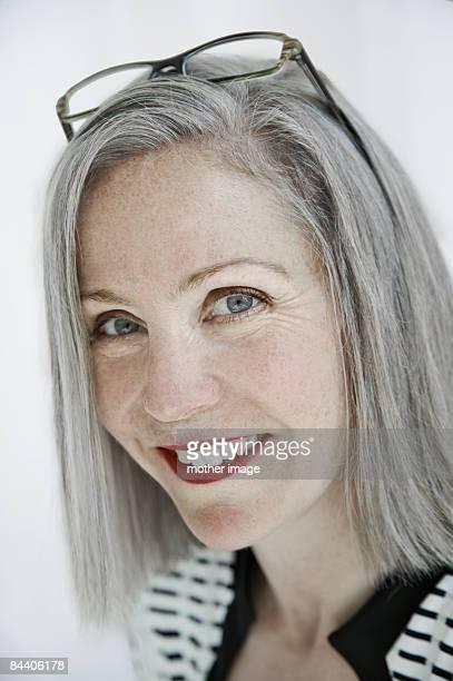 Portrait of mature Caucasian business woman