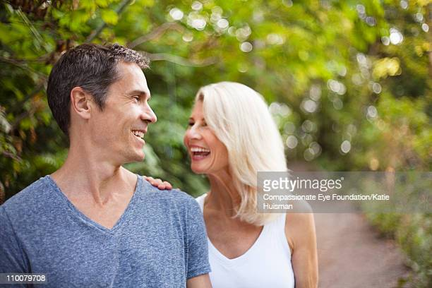 Portrait of mature couple laughing