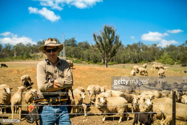 portrait of mature farmer on organic farm - farm stock pictures, royalty-free photos & images
