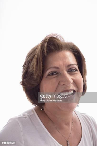 Portrait of mature hispanic woman