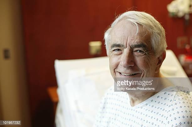 Portrait of mature man in hospital room