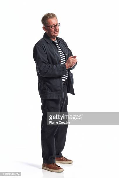 portrait of mature man in studio - full length stock pictures, royalty-free photos & images
