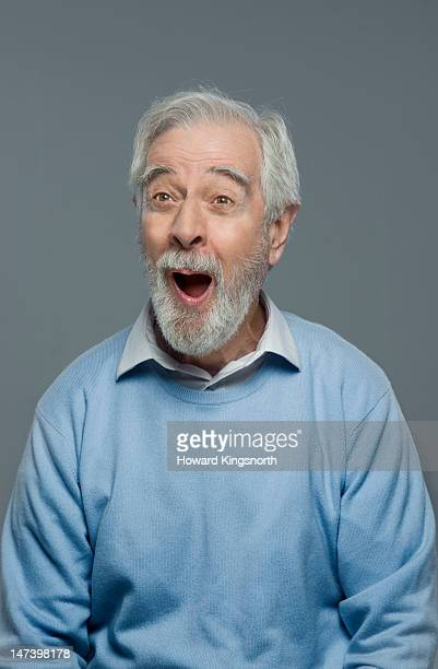 portrait of mature man looking amazed