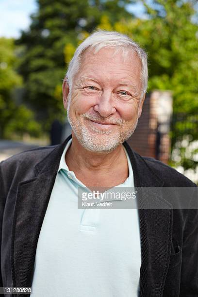 Portrait of mature man smiling to camera