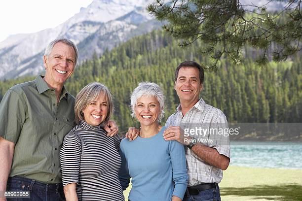 Portrait of mature, smiling couples