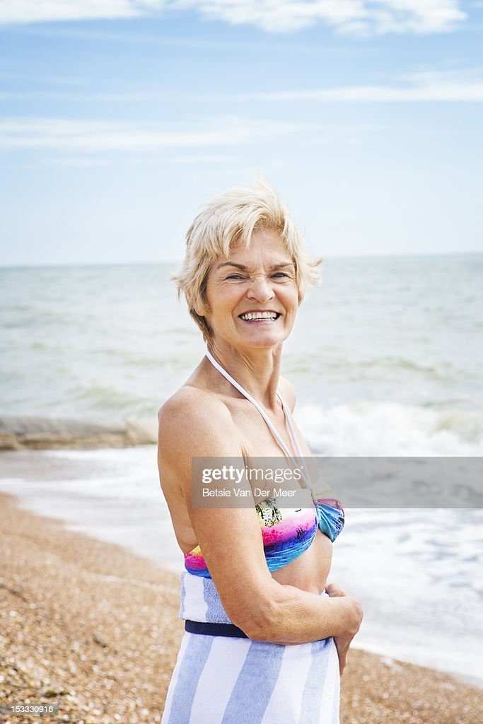 Russian mature woman on the beach!