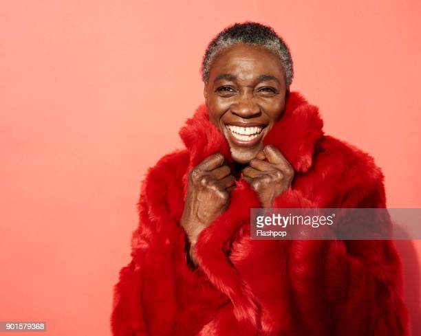 Portrait of mature woman laughing