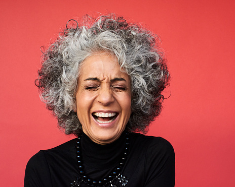Portrait of mature woman laughing - gettyimageskorea