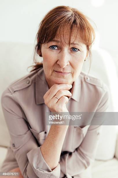 portrait of mature woman - older woman bending over stock pictures, royalty-free photos & images