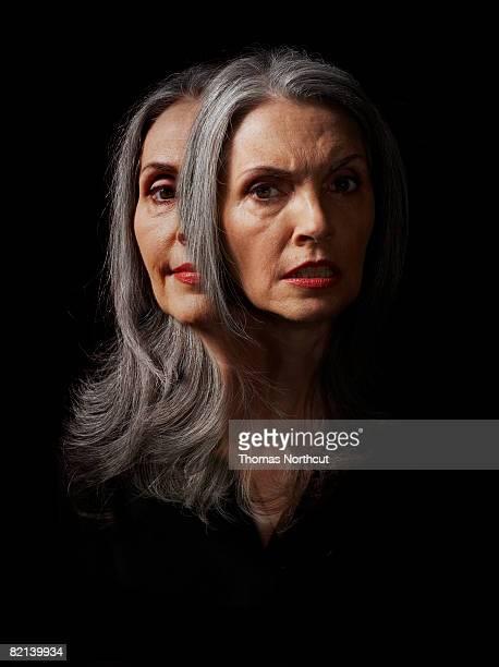 Porträt von Reife Frau zeigen Gefühle