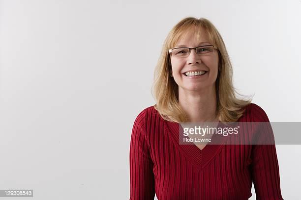 Portrait of mature woman, studio shot