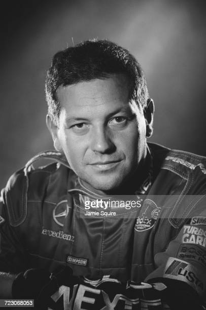 A portrait of Maurício Gugelmin of Brazil driver of the Motorola PacWest Racing Reynard 2KI Mercedes IC 108E during testing for the Championship Auto...