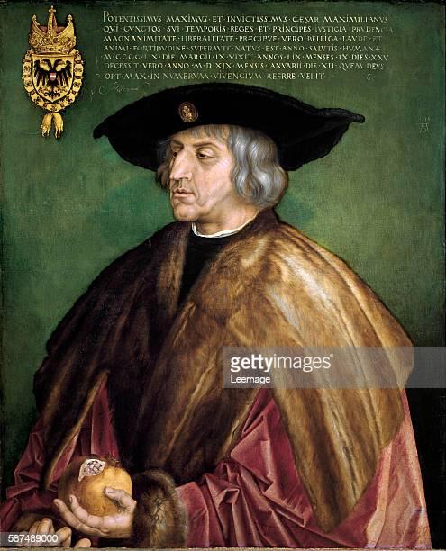 Portrait of Maximilian I of Austria Painting by Albrecht Durer 1519 Kunsthistorisches Museum Vienna
