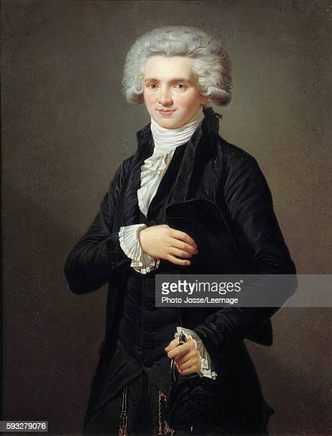 Portrait of Maximilien de Robespierre dressed as a deputy of the EstatesGeneral for Third Estate during the Convention Painting by Pierre Vigneron...