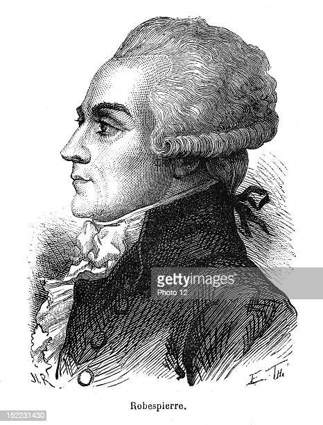 Portrait of Maximilien marie Isidor of Robespierre who was a french lawyer and a politician