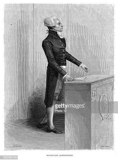 Portrait of Maximilien of Robespierre born 6th May 1758 and was guillotined 28th July 1794