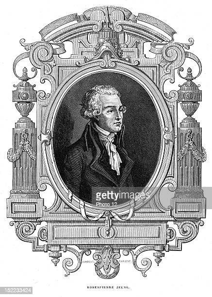 Portrait of Maximilien of Robespierre lawyer and politician