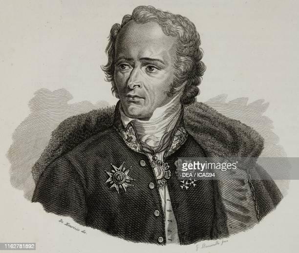 Portrait of Maximilien Sebastien Foy French general engraving by Bucinelli after a drawing by De Maurizio from Vite dei primarj marescialli e...