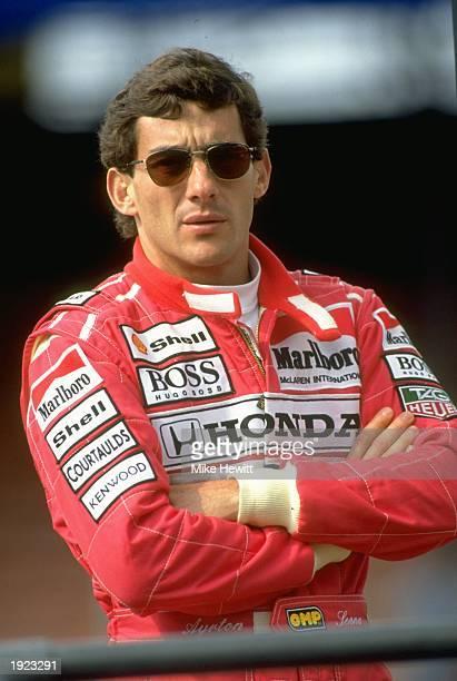 Portrait of McLaren Honda driver Ayrton Senna of Brazil Mandatory Credit Mike Hewitt/Allsport
